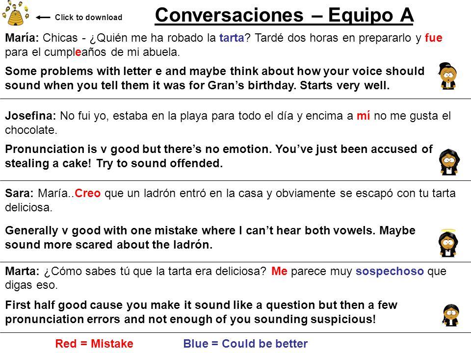 Conversaciones – Equipo A