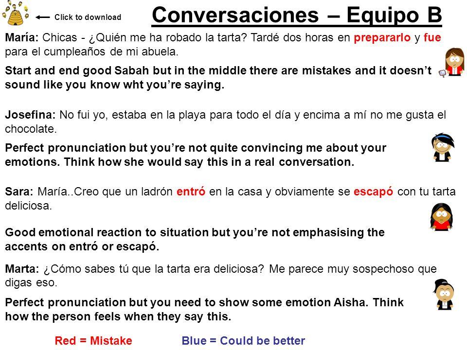 Conversaciones – Equipo B