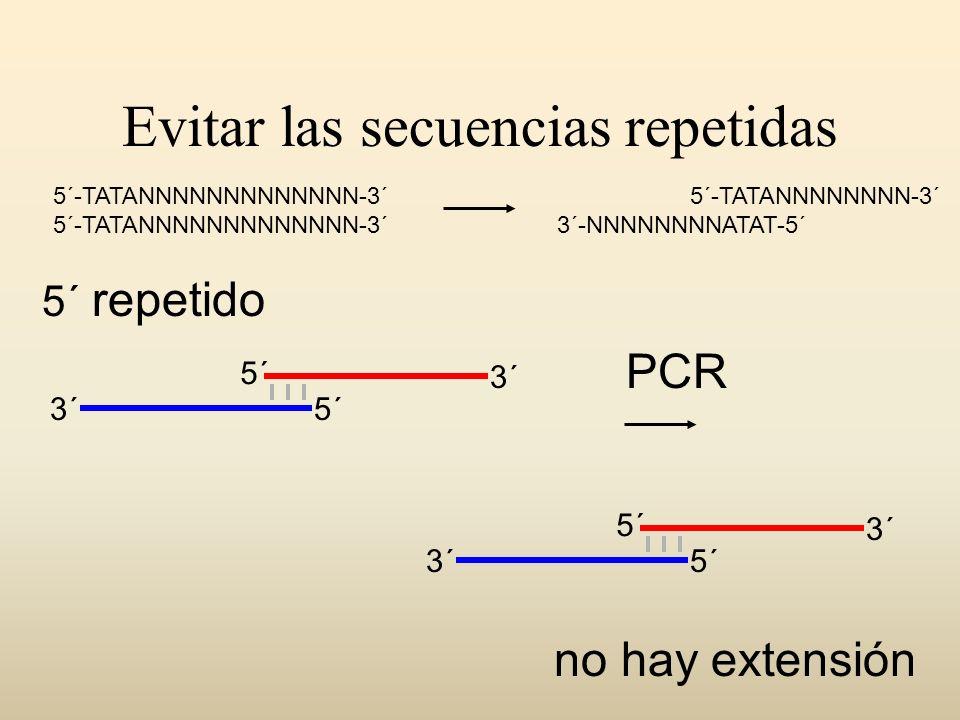Evitar las secuencias repetidas