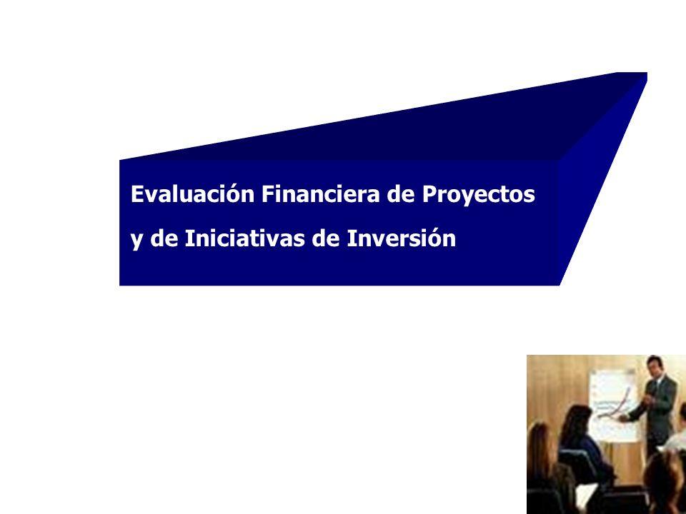 Evaluación Financiera de Proyectos y de Iniciativas de Inversión