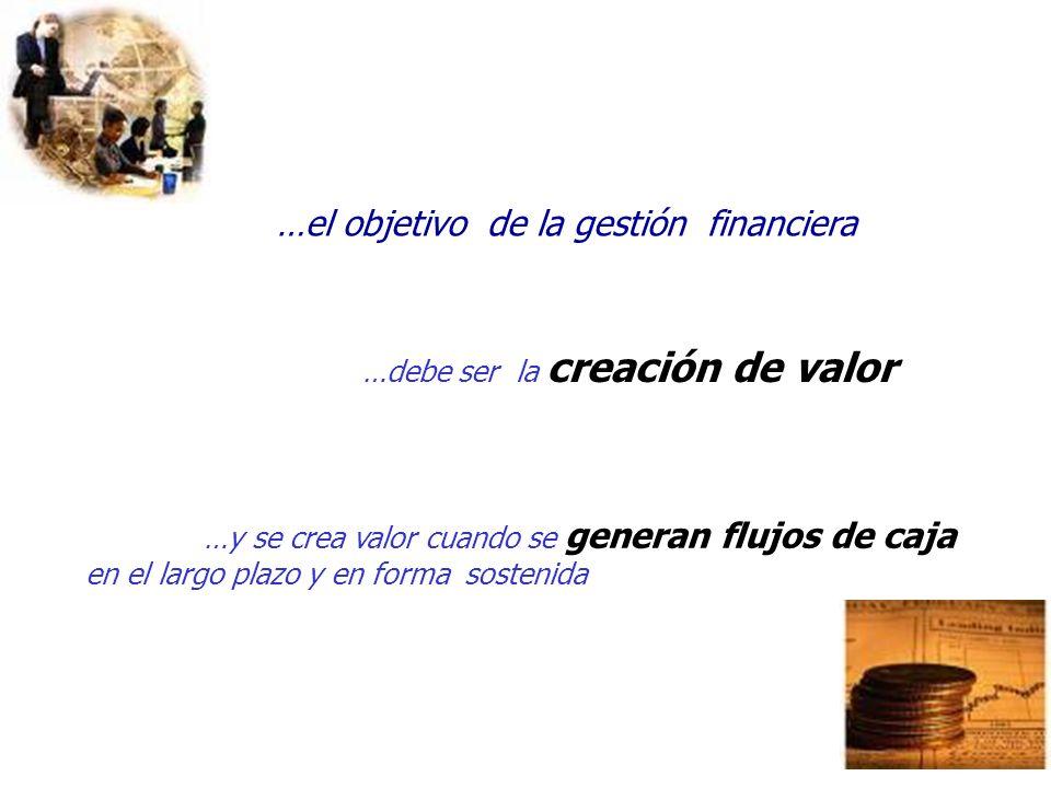 …el objetivo de la gestión financiera