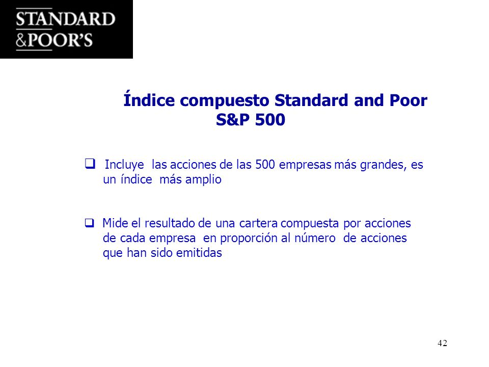 S&P 500 Índice compuesto Standard and Poor
