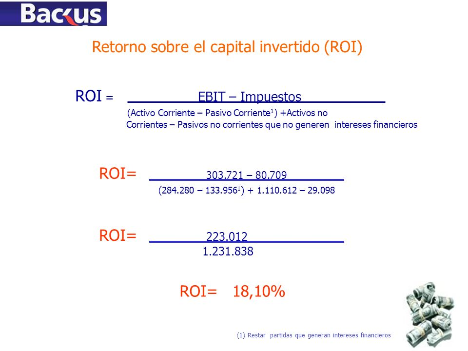 Retorno sobre el capital invertido (ROI)