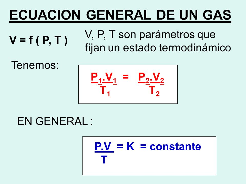ECUACION GENERAL DE UN GAS