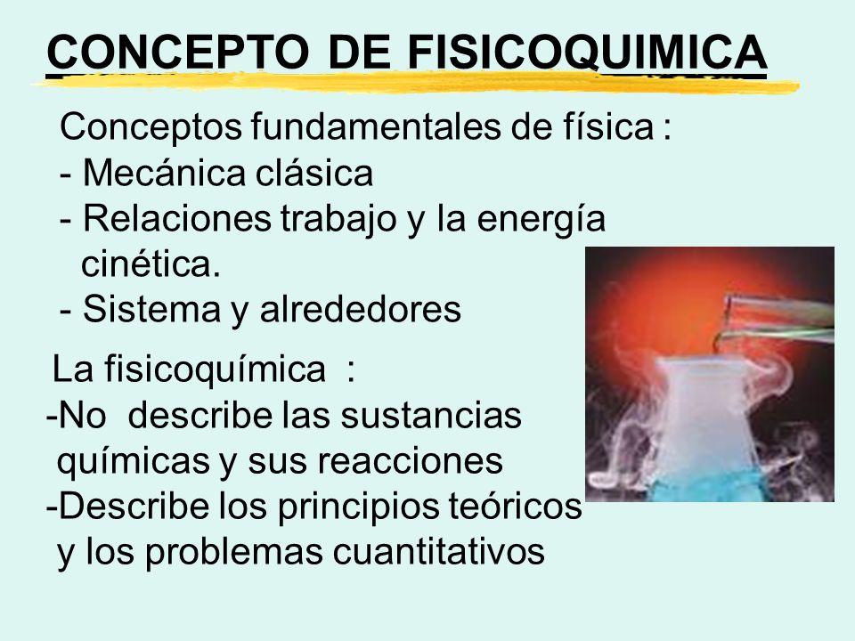 CONCEPTO DE FISICOQUIMICA