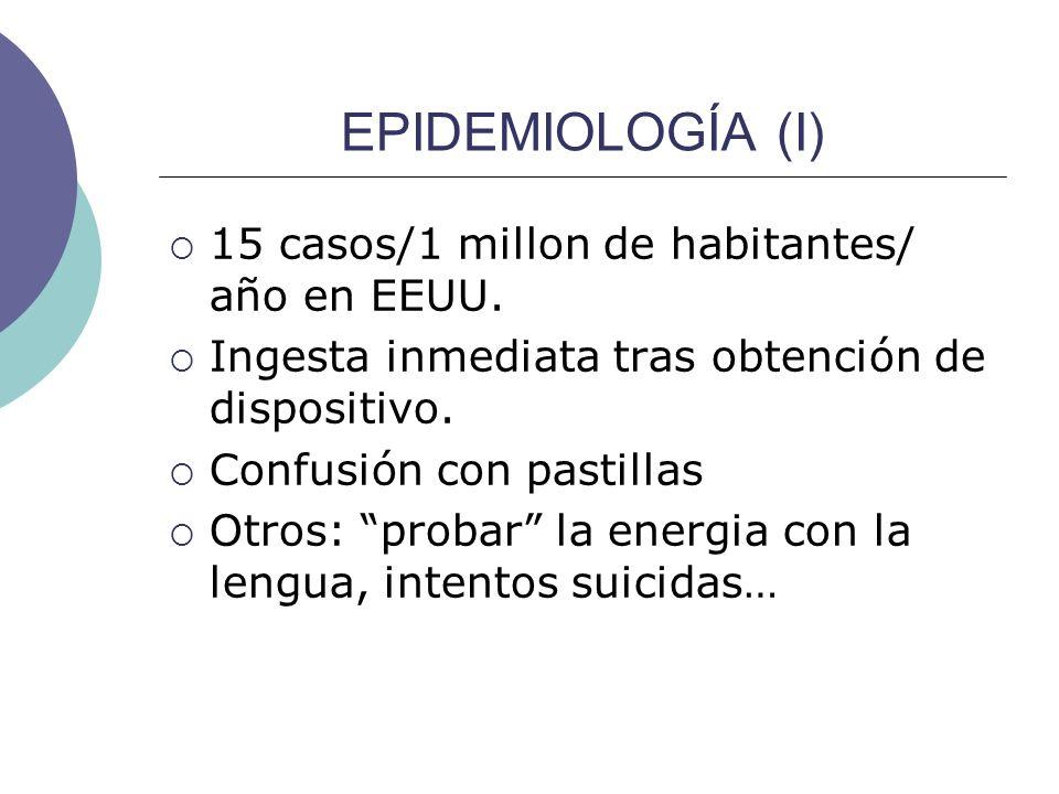 EPIDEMIOLOGÍA (I) 15 casos/1 millon de habitantes/ año en EEUU.