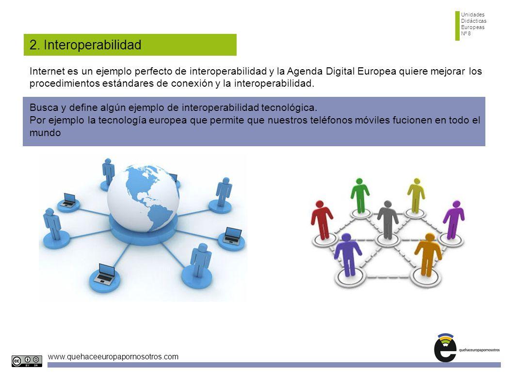 Unidades Didácticas. Europeas. Nº 8. 2. Interoperabilidad.