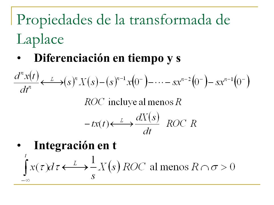 Propiedades de la transformada de Laplace