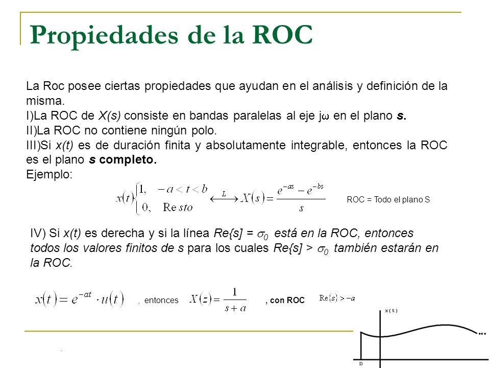 Propiedades de la ROCLa Roc posee ciertas propiedades que ayudan en el análisis y definición de la misma.