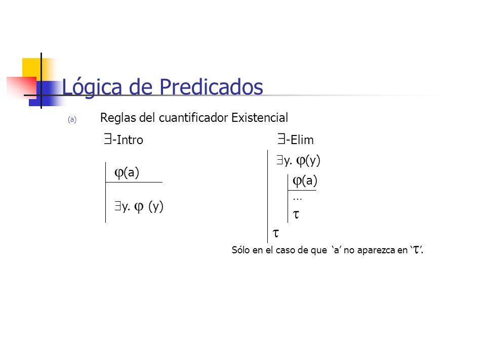 Lógica de Predicados (a) (a)   y. (y) y.  (y)