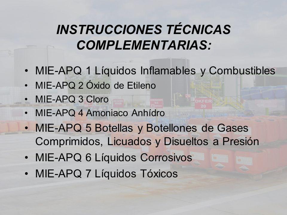 INSTRUCCIONES TÉCNICAS COMPLEMENTARIAS: