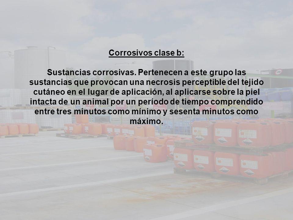 Corrosivos clase b: Sustancias corrosivas