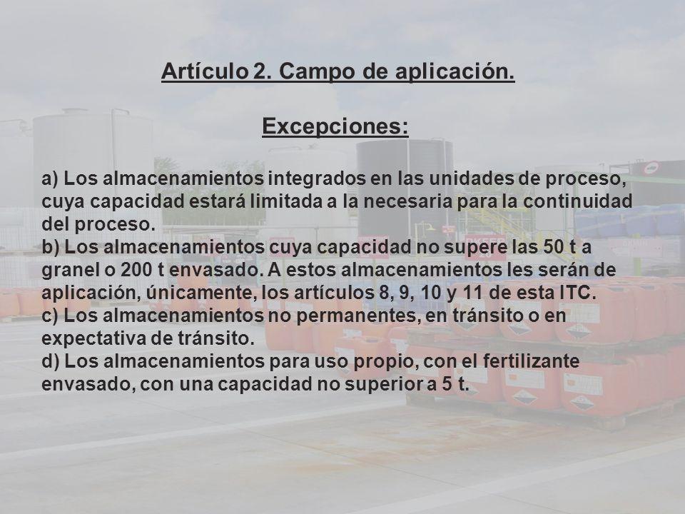 Artículo 2. Campo de aplicación