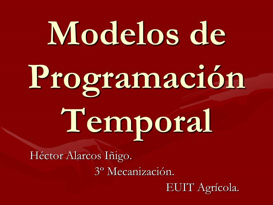 Modelos de Programación Temporal