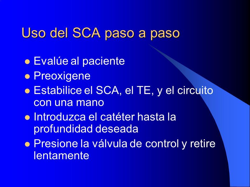 Uso del SCA paso a paso Evalúe al paciente Preoxigene