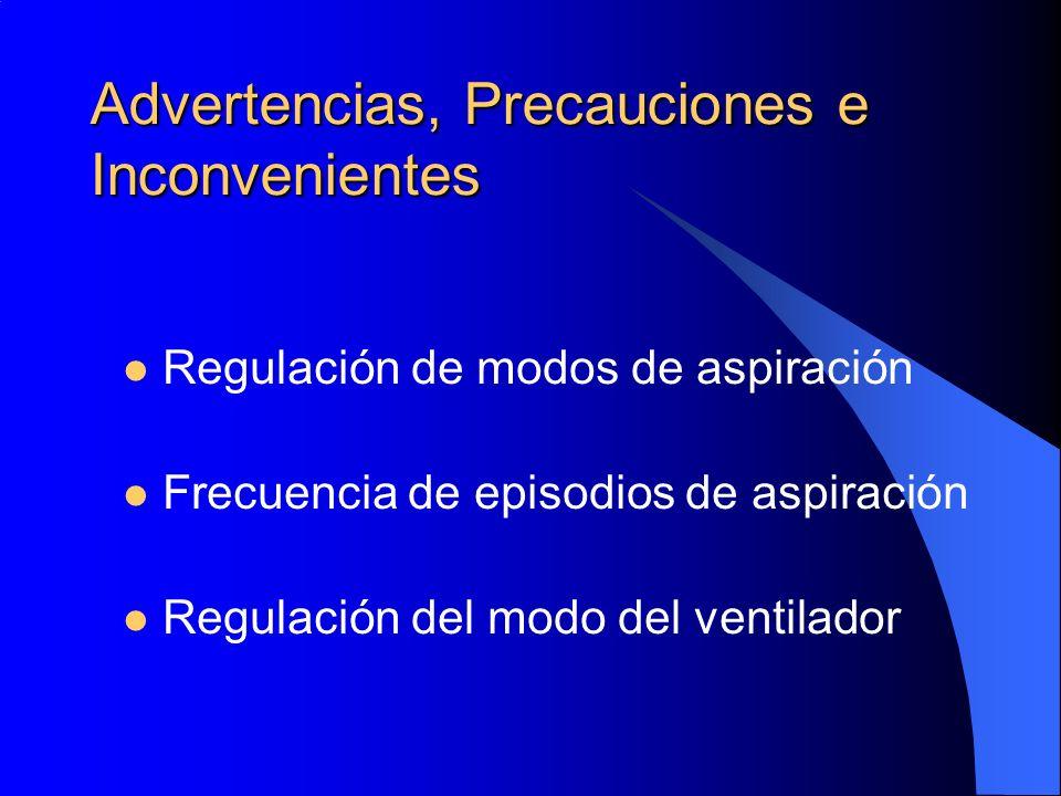 Advertencias, Precauciones e Inconvenientes