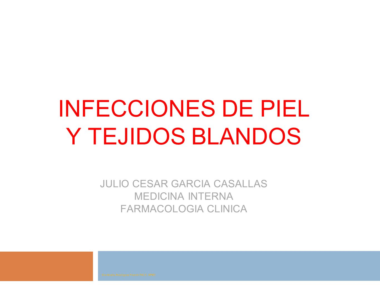 INFECCIONES DE PIEL Y TEJIDOS BLANDOS JULIO CESAR GARCIA CASALLAS MEDICINA INTERNA FARMACOLOGIA CLINICA