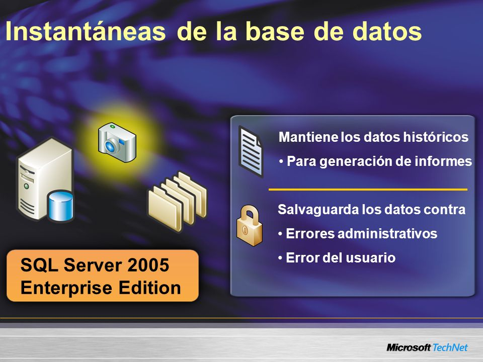 Instantáneas de la base de datos
