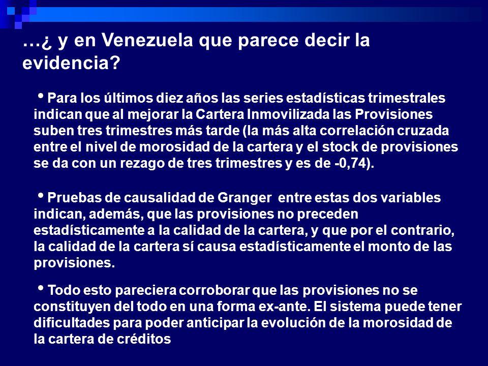 …¿ y en Venezuela que parece decir la evidencia