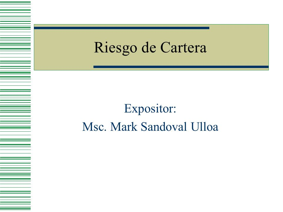Expositor: Msc. Mark Sandoval Ulloa