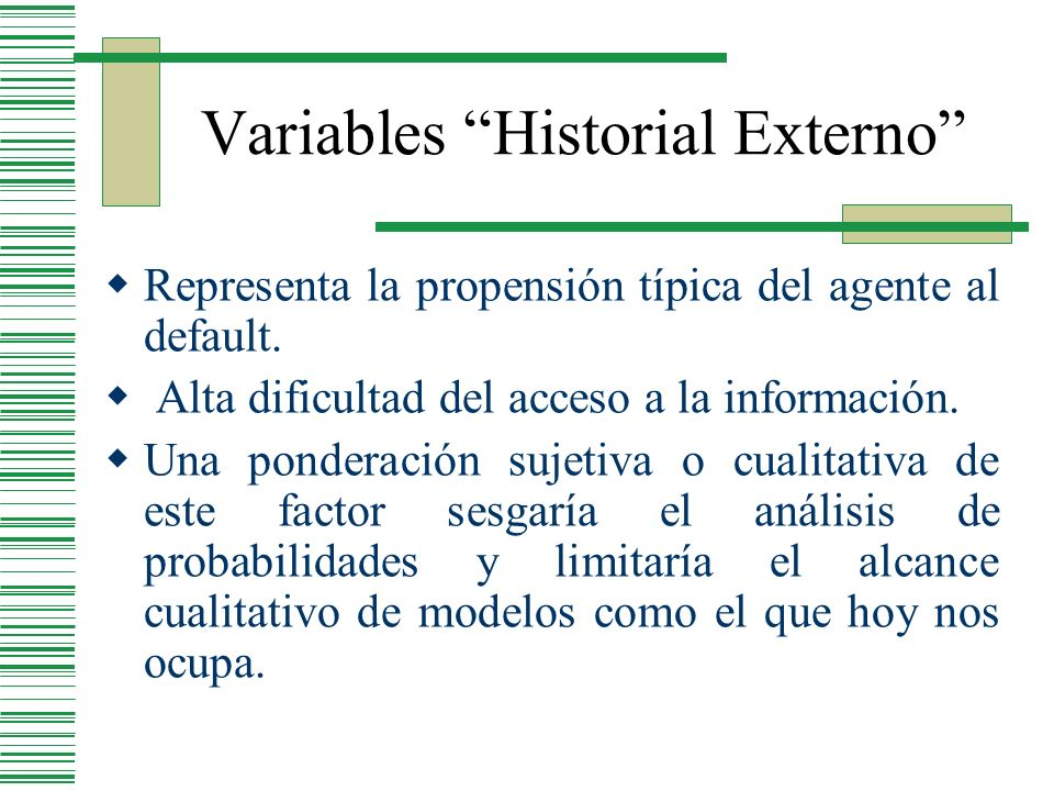 Variables Historial Externo