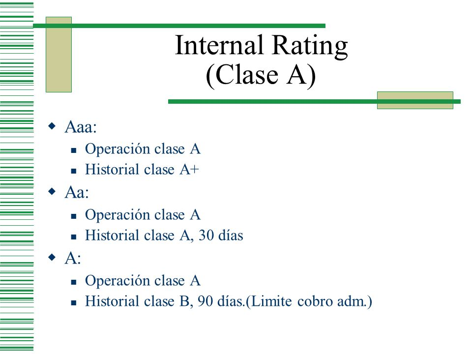 Internal Rating (Clase A)