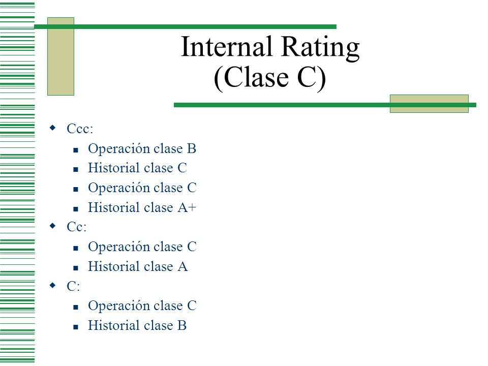 Internal Rating (Clase C)