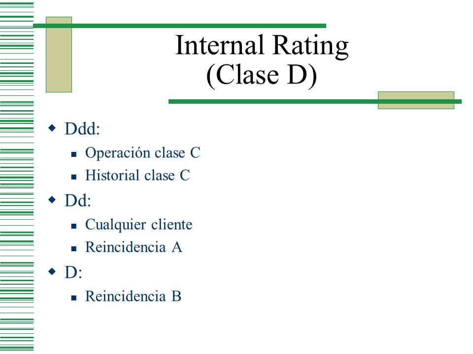 Internal Rating (Clase D)