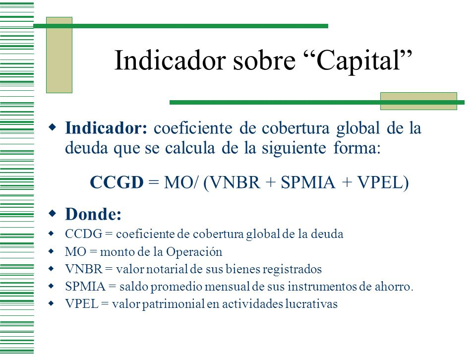 Indicador sobre Capital