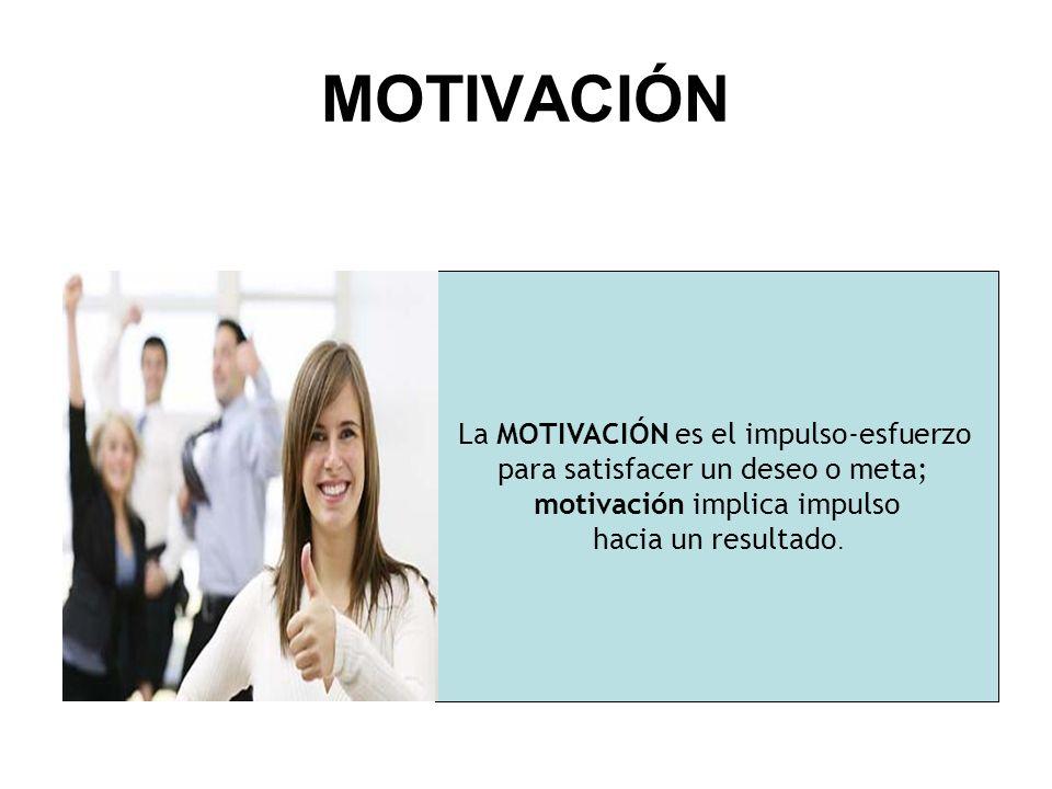 MOTIVACIÓN La MOTIVACIÓN es el impulso-esfuerzo