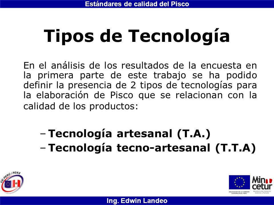 Tipos de Tecnología Tecnología artesanal (T.A.)