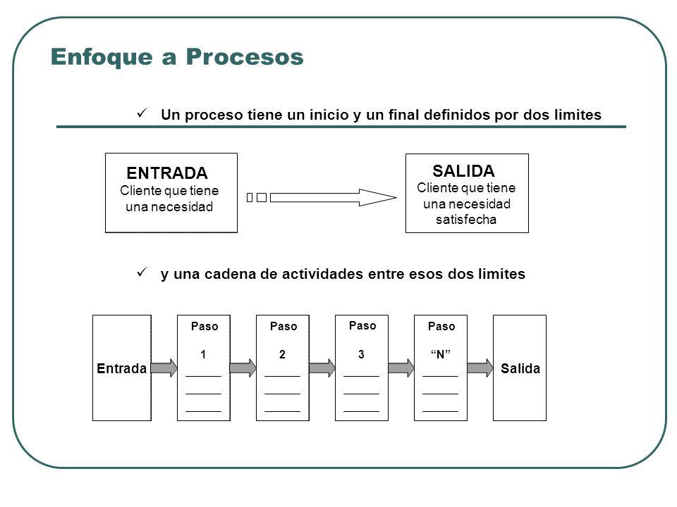 Enfoque a Procesos ENTRADA SALIDA
