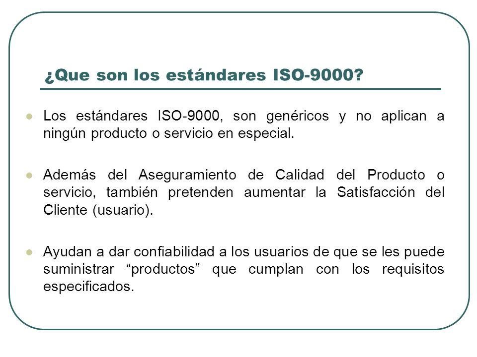 ¿Que son los estándares ISO-9000