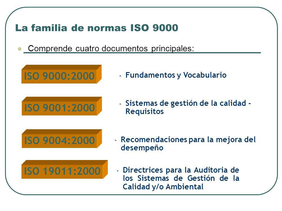 La familia de normas ISO 9000