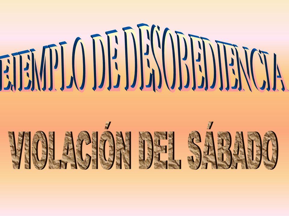 EJEMPLO DE DESOBEDIENCIA