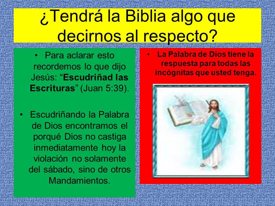 ¿Tendrá la Biblia algo que decirnos al respecto