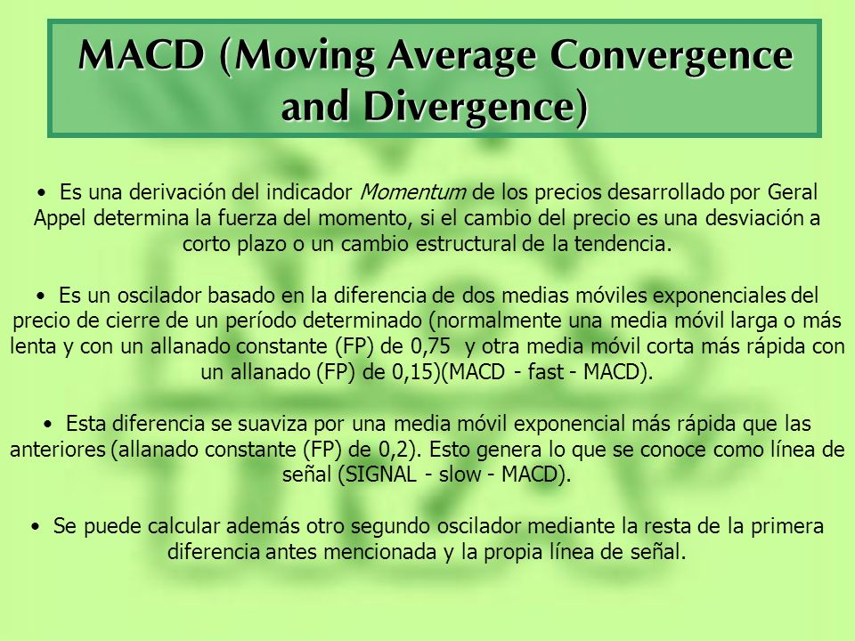 MACD (Moving Average Convergence and Divergence)