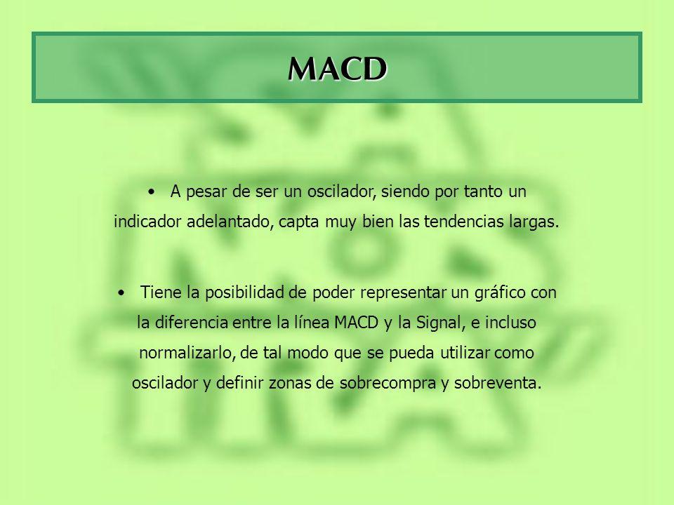 MACD A pesar de ser un oscilador, siendo por tanto un indicador adelantado, capta muy bien las tendencias largas.