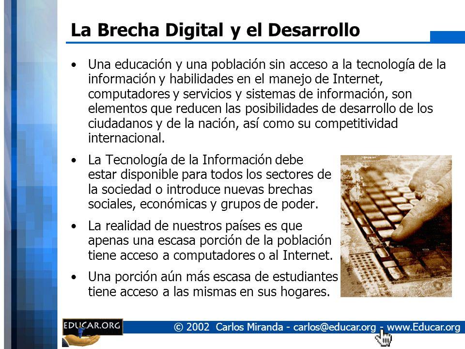 La Brecha Digital y el Desarrollo