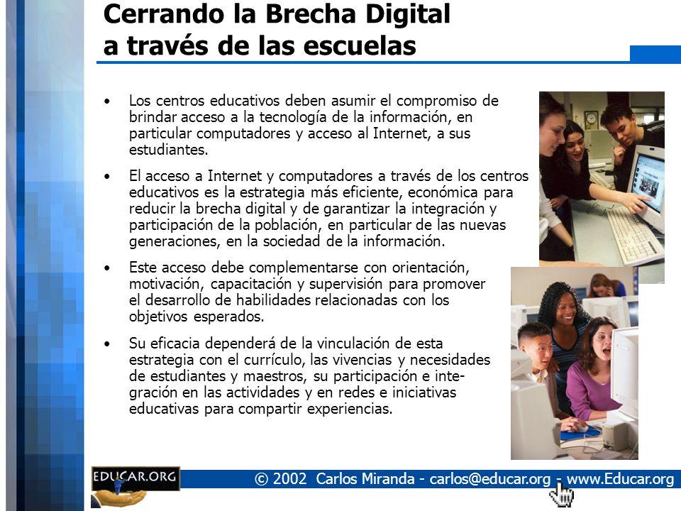 Cerrando la Brecha Digital a través de las escuelas