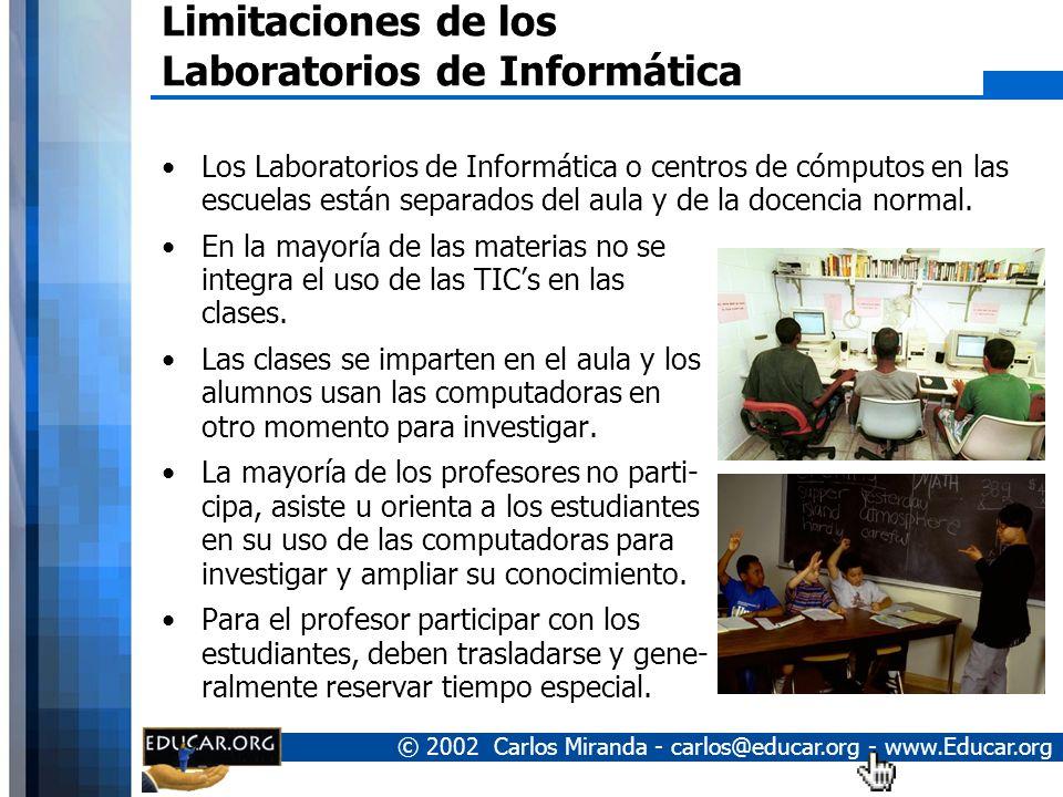 Limitaciones de los Laboratorios de Informática