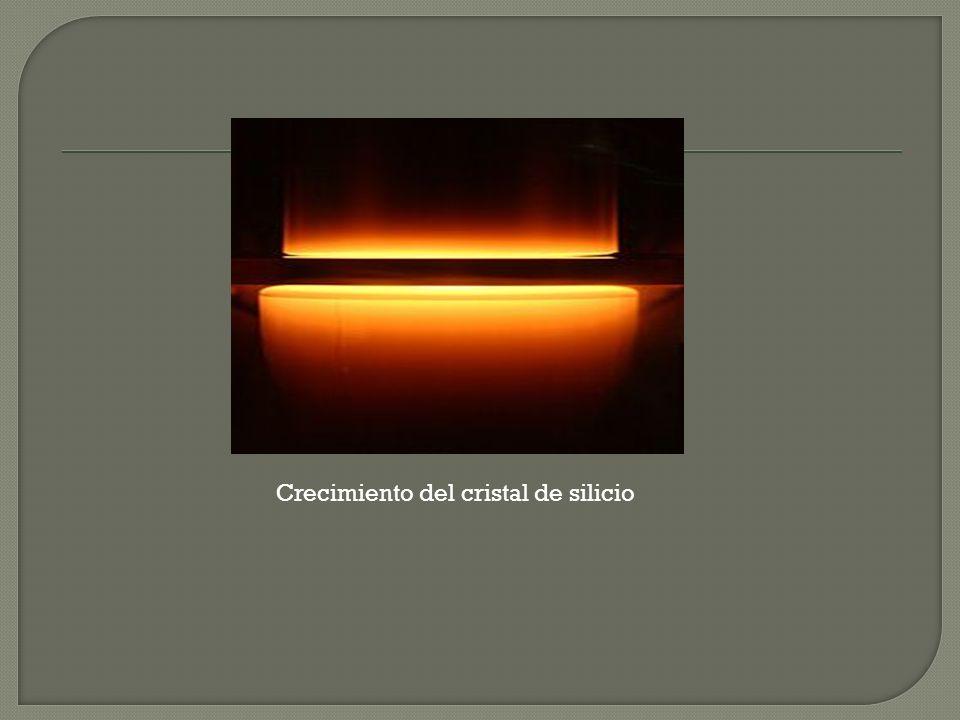 Crecimiento del cristal de silicio
