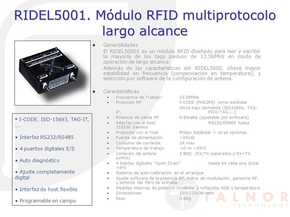 RIDEL5001. Módulo RFID multiprotocolo largo alcance