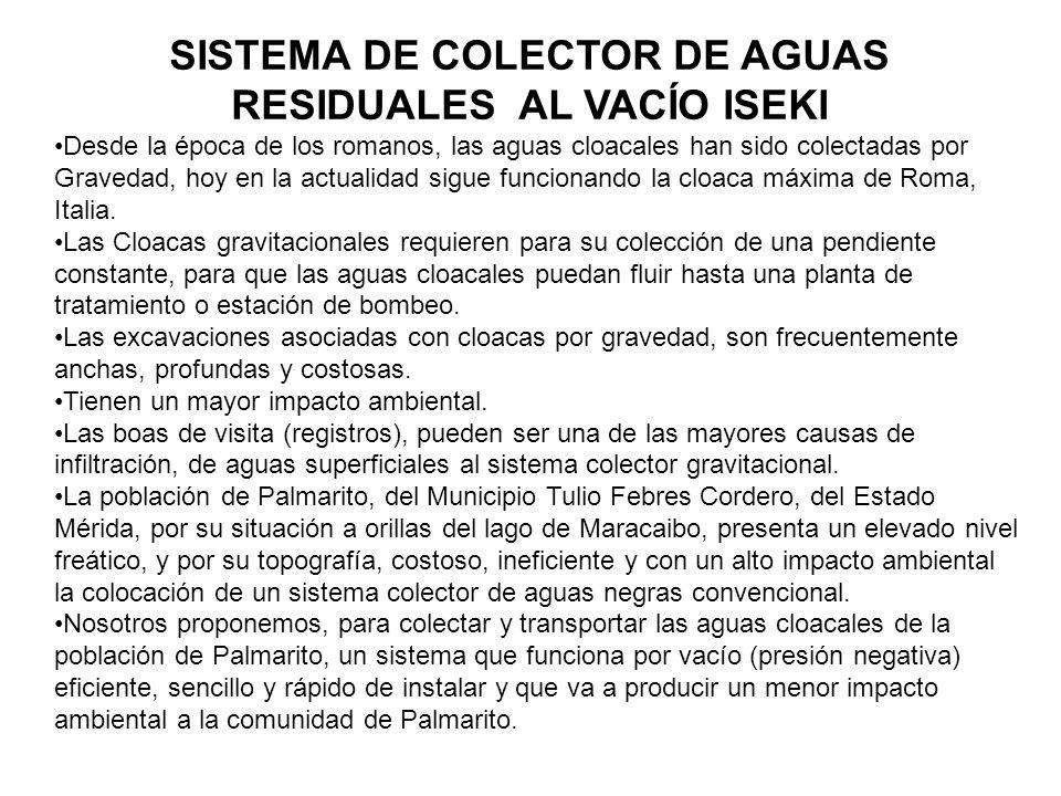 SISTEMA DE COLECTOR DE AGUAS RESIDUALES AL VACÍO ISEKI