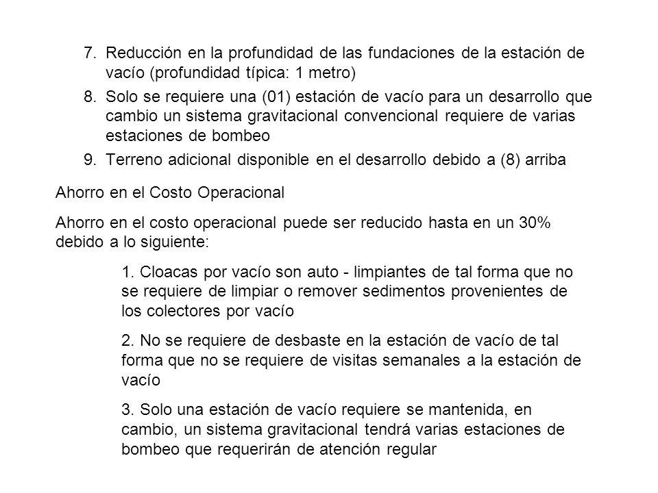 7. Reducción en la profundidad de las fundaciones de la estación de