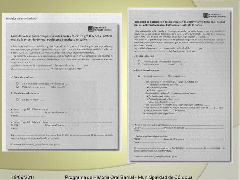Programa de Historia Oral Barrial - Municipalidad de Córdoba