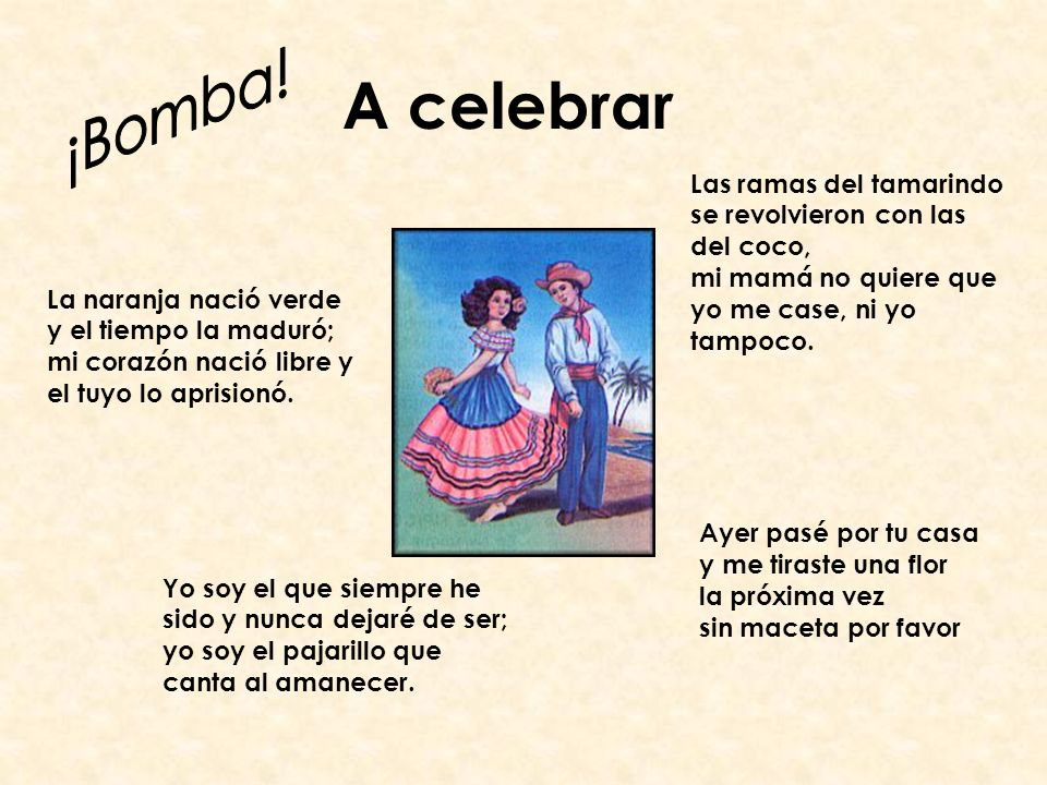 A celebrar ¡Bomba!