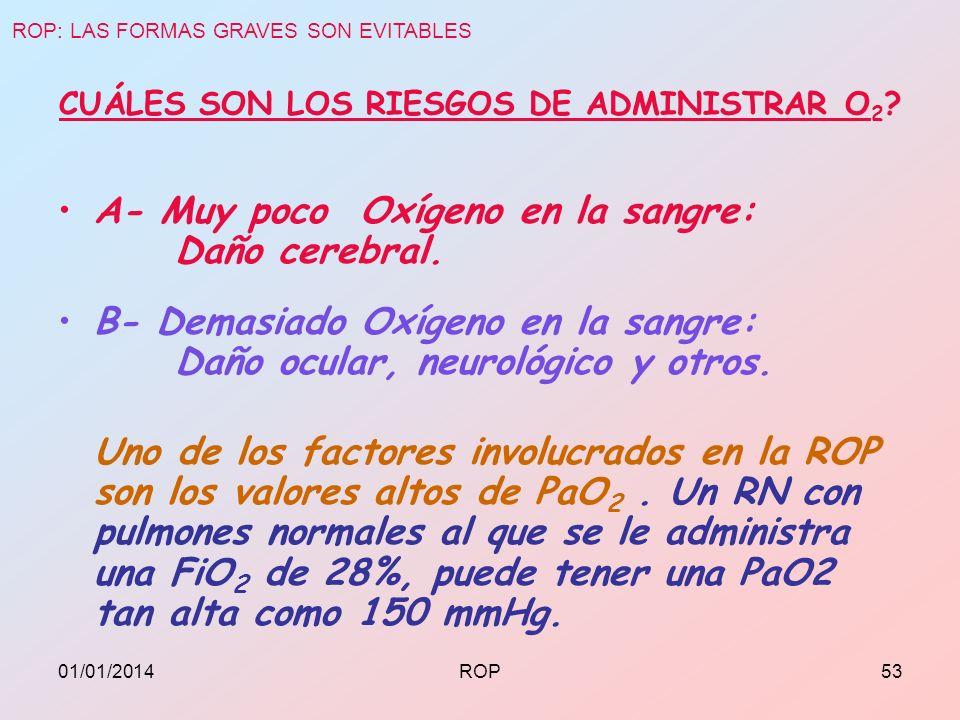 CUÁLES SON LOS RIESGOS DE ADMINISTRAR O2
