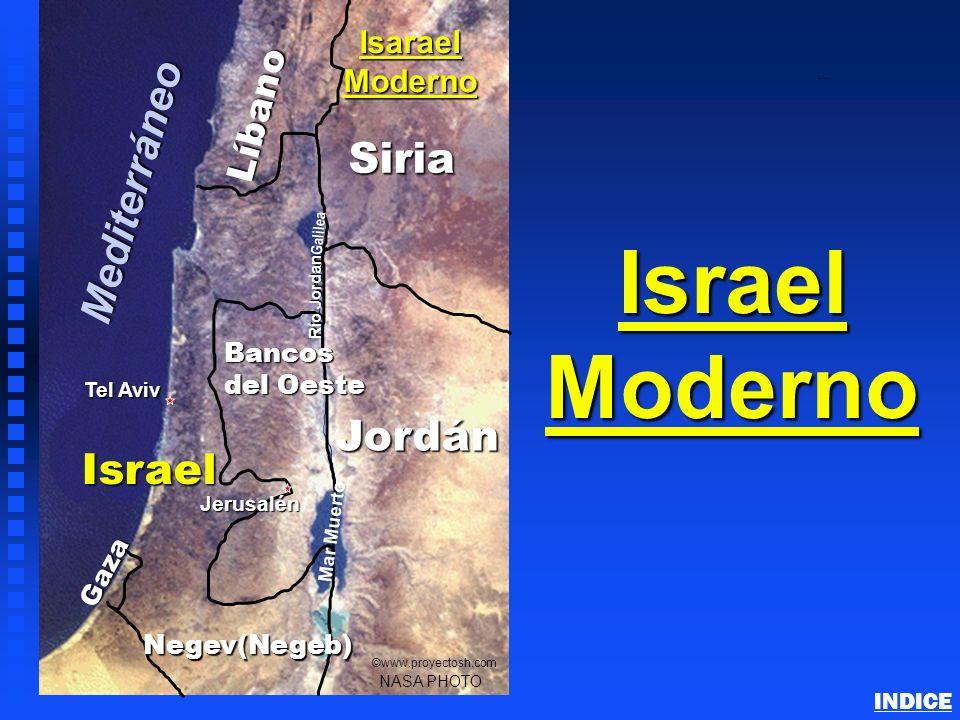 Israel Moderno Mediterráneo Siria Jordán Israel Líbano Isarael Moderno