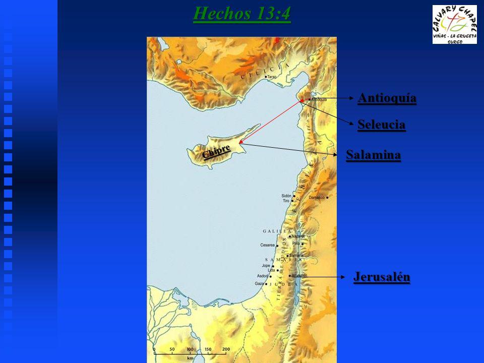 Hechos 13:4 Antioquía Seleucia Chipre Salamina Jerusalén